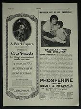 Madame Elizabeth Hyde 3 Walm Lane Willesden Phosferine 1922 Advertisement Ad