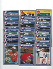 1985 Fleer Montreal Expos Team Set