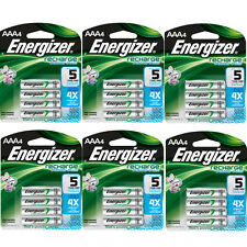 Energizer AAA Rechargeable Batteries 4 Pack, 6 Count = 24 Batteries
