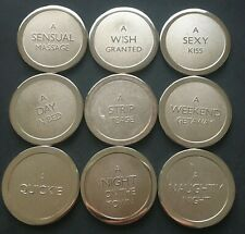 9 Novelty Love Tokens for Couples Wish Weekend Away Naughty Night etc.