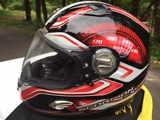 Scorpion EXO 1000 Motorcycle Full Face Helmet Red RPM Design Size XL Integrated