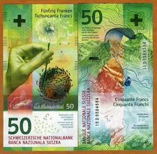 Switzerland - 50 Francs - Hybrid UNC currency note - 2015 issue - New design