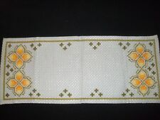 Vintage table cloth Swedish cross stitched table cloth embroidery