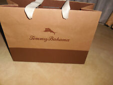"""TOMMY BAHAMA empty paper gift shopping BAG size 12""""X8-3/4""""X5"""" at the base Brown"""
