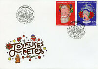 Luxembourg 2018 FDC Christmas Noel 2v S/A Set Cover Stamps