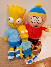 Bulk Plush Lot - BART Simpson & Eric Cartman South Park Simpsons toy doll plush