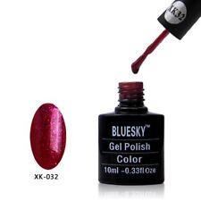 Bluesky UV LED Soak Off Nail Polish XK 32 Red Glitter 10ml