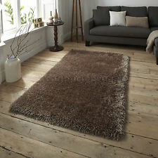 Think Rugs Monte Carlo Shaggy Hand Tufted Rug Beige 60x115cm (2x4')