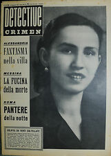 * DETECTIVE CRIMEN Anno XIII° N°50/ 21/DIC/1957 * COLPITA DA VENTI COLTELLATE *