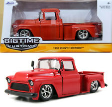 1955 Chevrolet Stepside Pickup Rot Red Chevy in 1:24 Jada Toys 90160