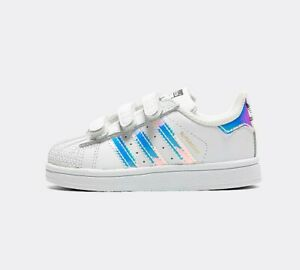 INFANT ADIDAS SUPERSTAR WHITE/IRIDESCENT TRAINERS (SF2) RRP £42.99