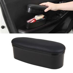 Black Car Front Door Handle Storage Box Interior Accessories Armrest Box Pad