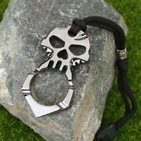 EDC Skull Outdoor Survival Pocket Multi Tool Key Ring Pendant Keychain Wrench
