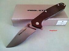 Real Steel H5 Framelock Desert Brown EDC Tactical Folding Pocket Knife 7754