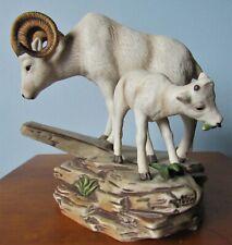 Big Horn Sheep & Baby 1984 Homco Masterpiece Signed Mizuno Artist
