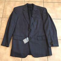 Jos A Bank Mens Blue Check Executive Collection Blazer Jacket Size 41 Regular