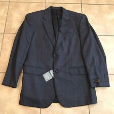 Jos A Bank Mens Blue Check Executive Collection Blazer Jacket Size 41 Regular