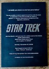 Star Trek 2009 INVITATION INVITE PROMO PRESS CHRIS PINE DVD RELEASE