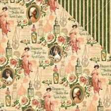 """Graphic 45 Portrait of a Lady - CATHERINE - 12x12"""" Scrapbooking Paper"""