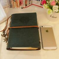 Classic Vintage Notebook Leather Blank Diary Note Book Journal Sketchbook - L
