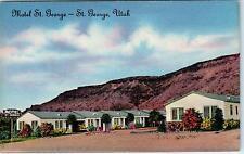 St George, Ut Utah Motel St. George c1940s Roadside Linen Postcard