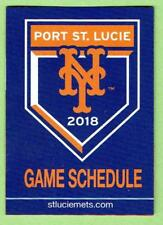 NEW YORK METS ~ 2018 Spring Training Pocket Schedule ~ FREE SHIPPING