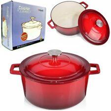 Cocotte + Couvercle Brabantia fonte émaillée rouge Ø 25 cm tout feu dont inducti