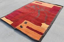 R17546 Gorgeous Contemporary Tibetan Woolen Area Rug 6' X 9' Handmade in Nepal