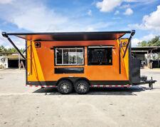 8.5X18 Orange and Black Full Food Trailer