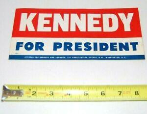 1960 JFK JOHN F. KENNEDY BUMPER STICKER campaign pin pinback button political