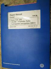 1998 VOLKSWAGEN PASSAT 1.8L TURBO FUEL & IGNITION OBD II FACTORY SERVICE MANUAL