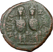 Justin Ii & Queen Sophia 565Ad Ancient Byzantine Coin Large M i20062