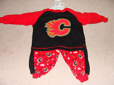 Calgary Flames Infant 18 Months 2 Pc Pjyamas Hockey NHL