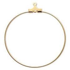 Wholesale Lot Gold Hoops 40mm Earring Jewelry 20 pcs