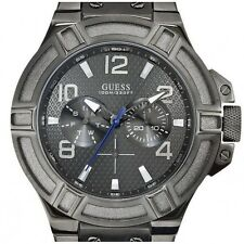 GUESS MEN'S WATCH,MULTIFUNCTION,DAY DATE,RIGOR,STEEL BRACELET GRAY,100 m
