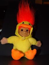 "Troll Doll 6"" Russ Easter Yellow Duck Chicken Orange Hair"