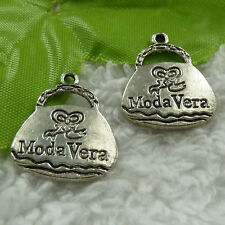 free ship 68 pcs tibet silver handbag charms 23x19mm #3744