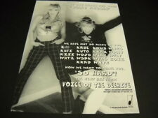 Voice Of The Beehive Thanks Radio for Scary Kisses original 1996 Promo Poster Ad
