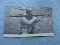 WWII US Army Photo Card Soldier with Bazooka Signal Corps WWII