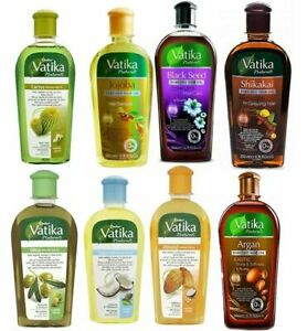 Dabur Vatika Natural Enriched Hair Oils Black Seed Castor Garlic Almond *All Oil