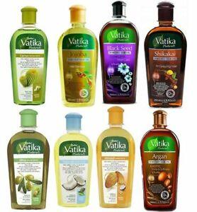 Dabur Vatika Natural Enriched Hair Oils Black Seed Castor Garlic Almond *All Oil