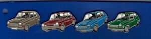 4 pins pin coches 27 diferentes colores