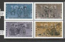 canada 1991 50th Anniv WW2 (3rd Series) UM block 4 SG 1456/59