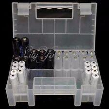 Large Translucent Hard Plastic Case Holder Storage Box for AA AAA C battery