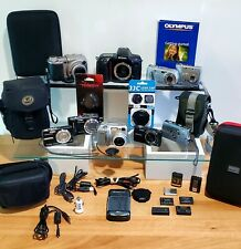 Used Digital Camera Bundle Lot Cameras, Bags, Cases, Lens Caps, Batteries UNTEST