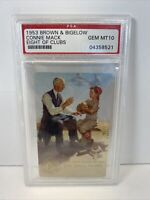 1953 BROWN & BIGELOW CONNIE MACK EIGHT OF CLUBS PSA GEM MT 10