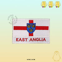 EAST ANGLIA County Flag With Name Embroidered Iron On Sew On Patch Badge