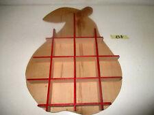 Bacheca mensola legno compensato forma pera decoupage