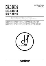 Brother KE-430HX KE-430HS BE-438HX BE-438HS Button Sewer Manual Reprint