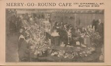 VTG Merry-Go-Round Cafe Interior View O'Farrell St. San Francisco CA Postcard